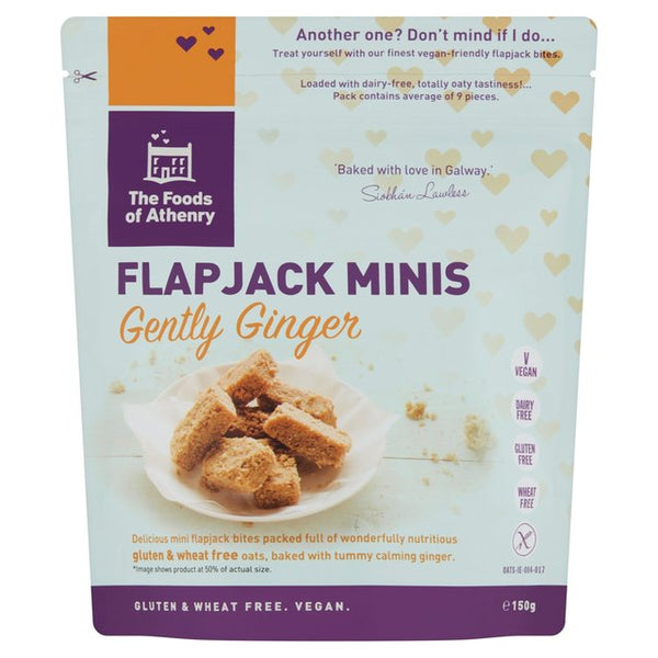 Foods of Athenry Gluten Free Flapjack mini bites 'Just Oats' 150g $8.10