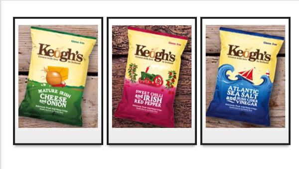 CHRITSMAS SPECIALS- KEOGHS CRISPS MIXED BOX -24 PACKS