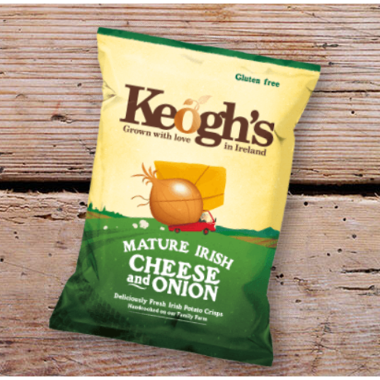 Keogh's Dubliner Cheese & Onion Crisps 50g $3.40