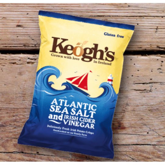 Keogh's Atlantic Sea Salt & Cider Vinegar Crisps 50g $3.40