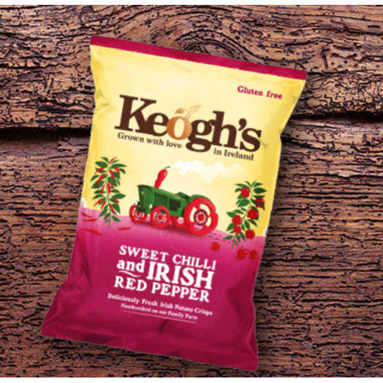 Keogh's Sweet Chilli & Irish Red Pepper Crisps 50g $3.40