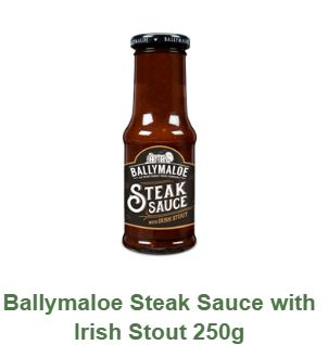 Ballymaloe Steak Sauce with Irish Stout 250g $8.50