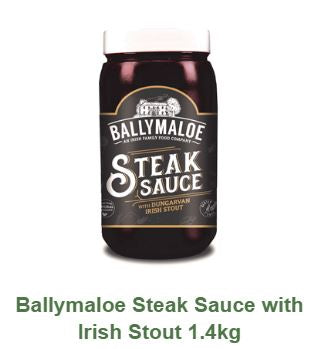Ballymaloe Steak Sauce with Irish Stout FOOD SERVICE SIZE 1.4KG $35.00
