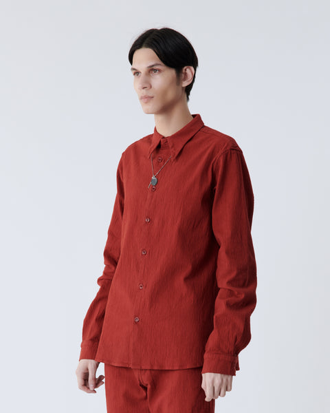 Red Crinkled Shirt