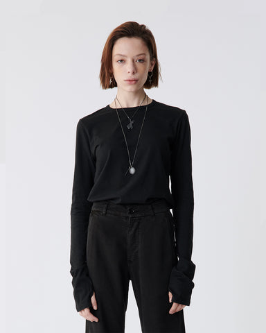 Black Drifter Long Sleeve Top