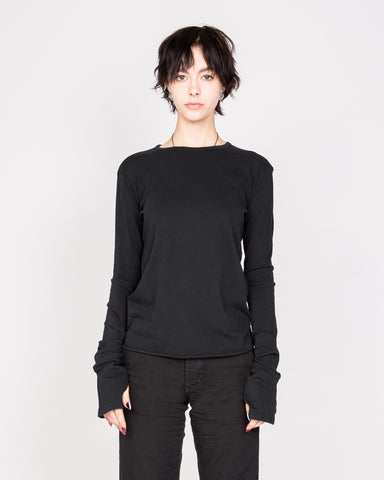 Black Long Sleeve Drifter Top
