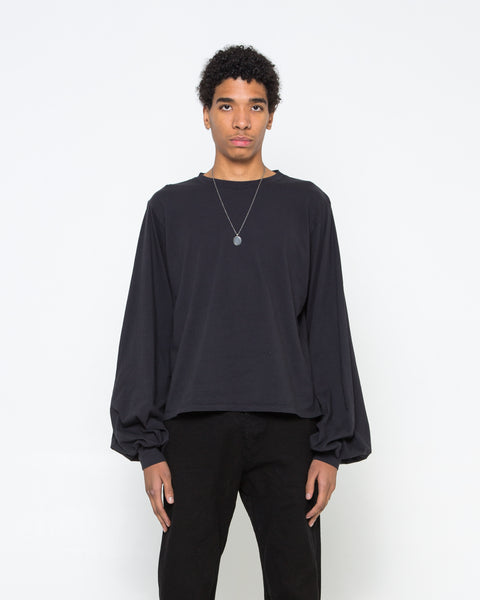 Black Balloon Sleeve Top