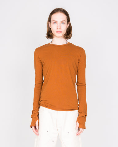 Orange Long Sleeve Drifter Top