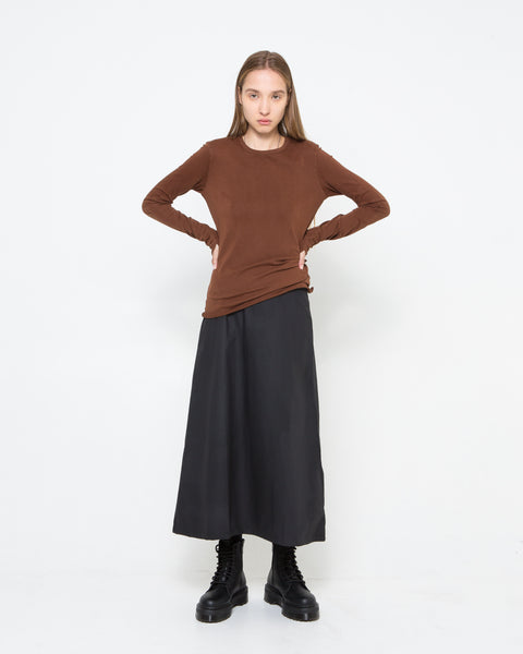 Brown Drifter Long Sleeve Top