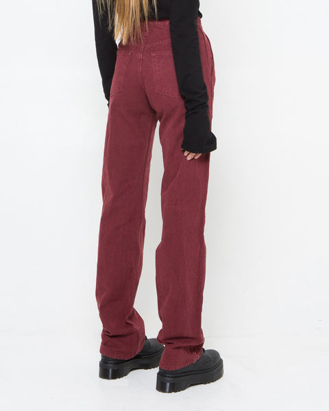 Red Canvas Pants