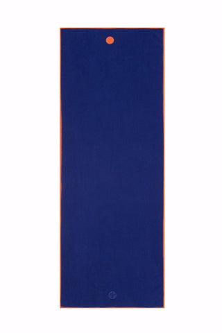 Yogitoes Skidless Yoga Mat Towel Chakra Blue