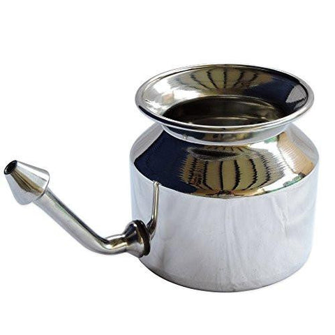 High Grade Stainless Steel Neti Pot With 5 Sachet Neti Salt