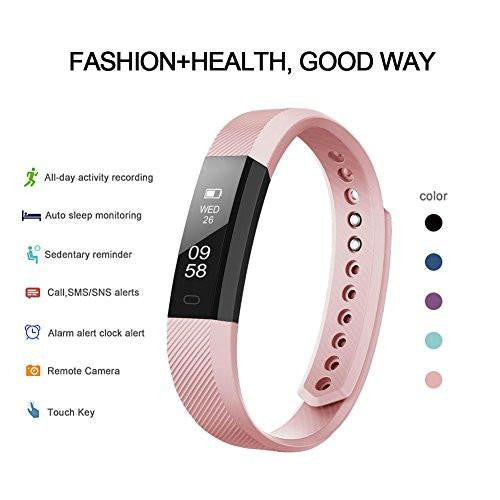 Letscom Pink Fitness Tracker Watch