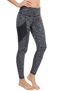 Women Yoga Leggings Power Flex Mesh High Waist 3 Phone Pocket Gym Running Tights