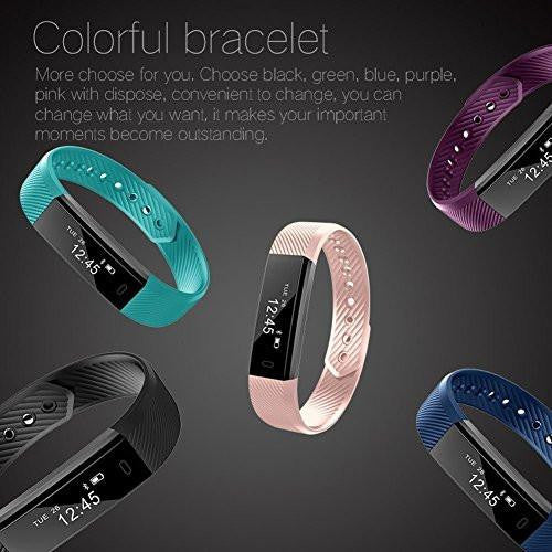 Letscom Purple Fitness Tracker Watch
