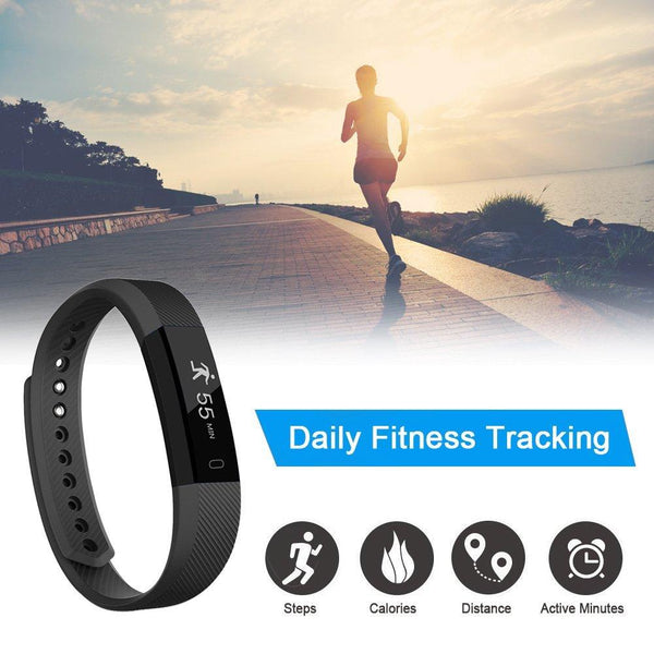 Letscom Waterproof Teal Fitness Tracker