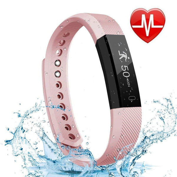Letscom Waterproof Pink Fitness Tracker