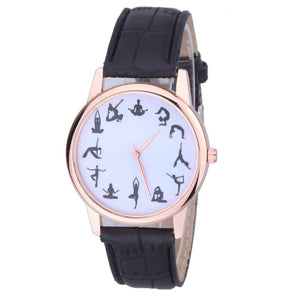 Women Yoga Movement Pattern Casual Quartz Watch