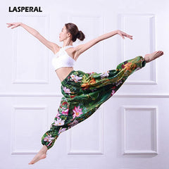 Women Floral Print High Waist Boho Yoga Pants