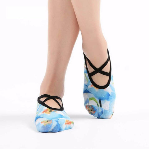Thin Print Yoga Socks Anti Skid