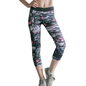 Women Geometric Sport Running Leggings