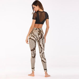 Fitness Snakeskin Trousers Sport Pants Women