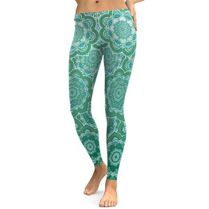 Women Flower Mandala Yoga Legging