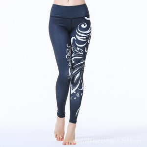 Agleroc Yoga Serve Printing Pants Motion Run Speed Do Pants Superior Quality Elasticity Tight Trousers Lulu Bodybuilding Pants
