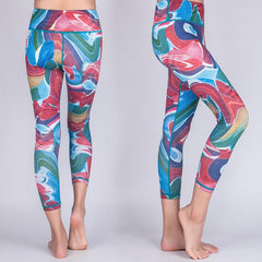 Agleroc Yoga Serve Printing Pants Motion 7 Part Speed Do Pants Elasticity Tight Trousers Rendering Lulu Bodybuilding Pants