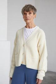 Preila Cardigan - Sea Salt