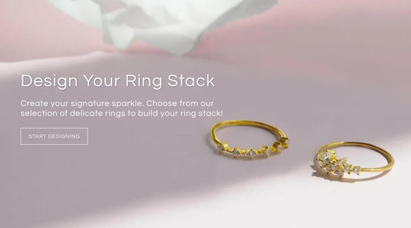 Blush and Bar Design Your Ring Stack