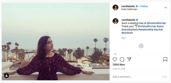Camilla Belle Fashion Jewelry Instagram
