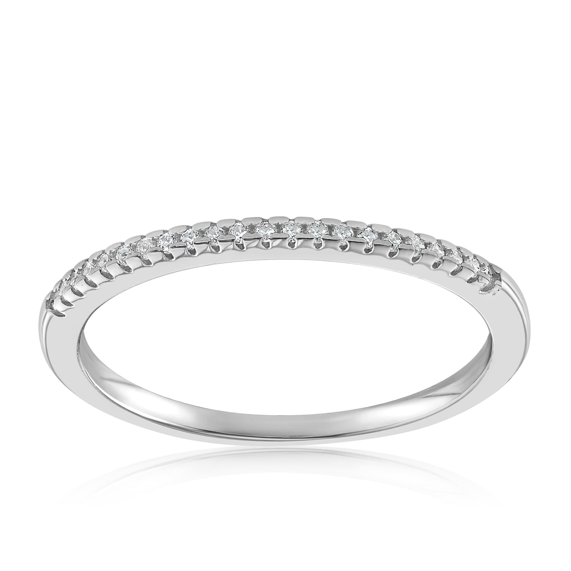 Brianna Bezel Ring - Front View Facing Up - 925 Sterling Silver