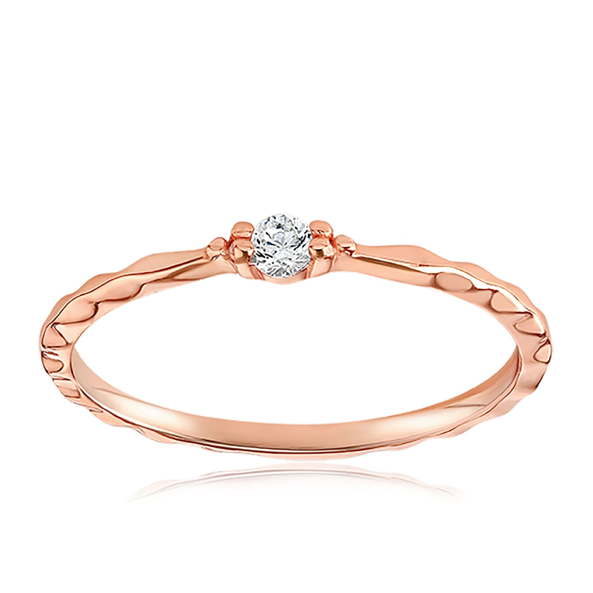 Charisse Vintage Ring - Front View Facing Up - 18K Rose Gold Vermeil