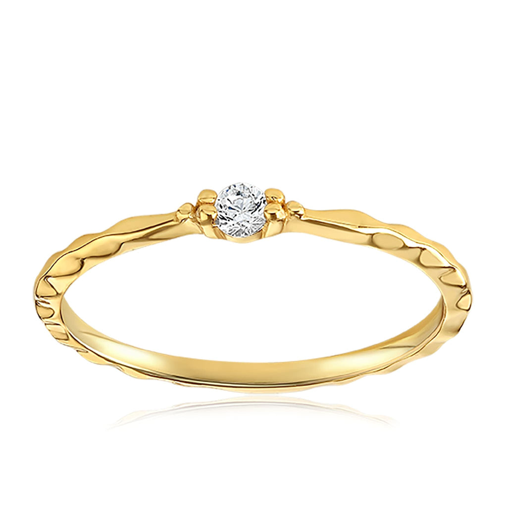 Charisse Vintage Ring - Front View Facing Up - 18K Yellow Gold Vermeil