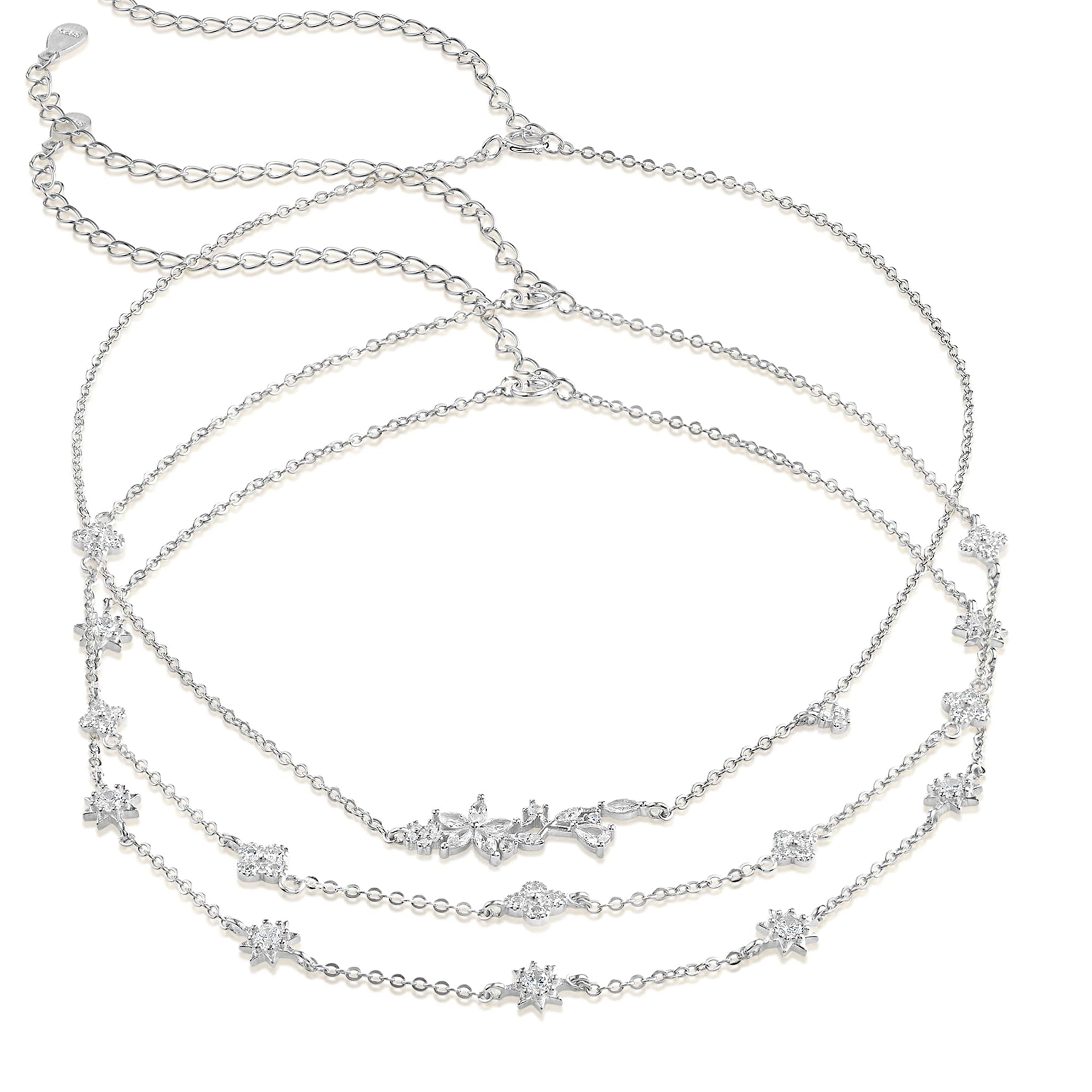 Clementine 3 in 1 Choker Necklace - Trio - 925 Sterling Silver