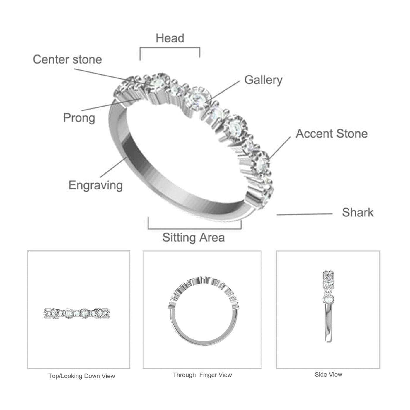 Debra Dots Opal Ring Diagram