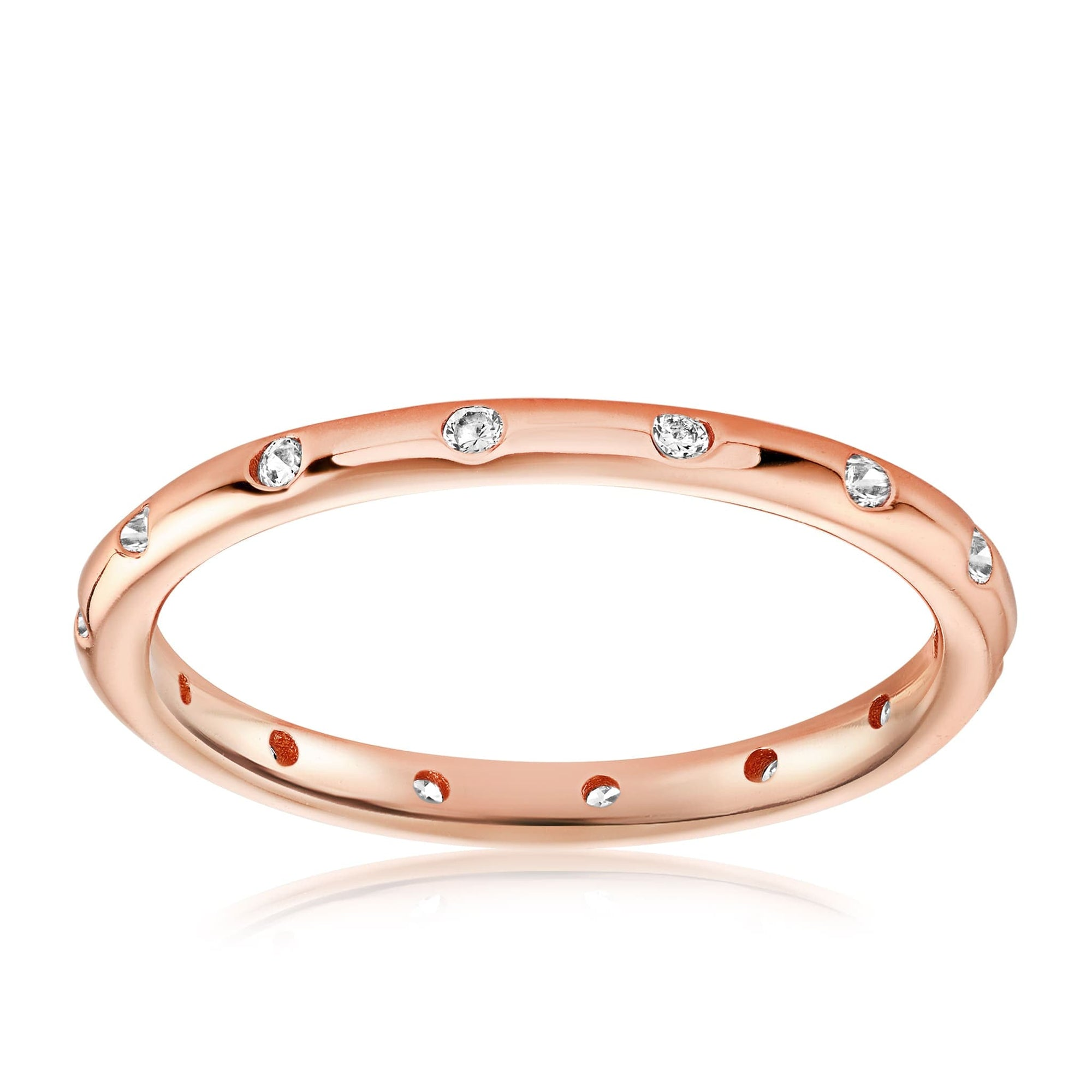 Droplet Ring - Front View Facing Up - 18K Rose Gold Vermeil