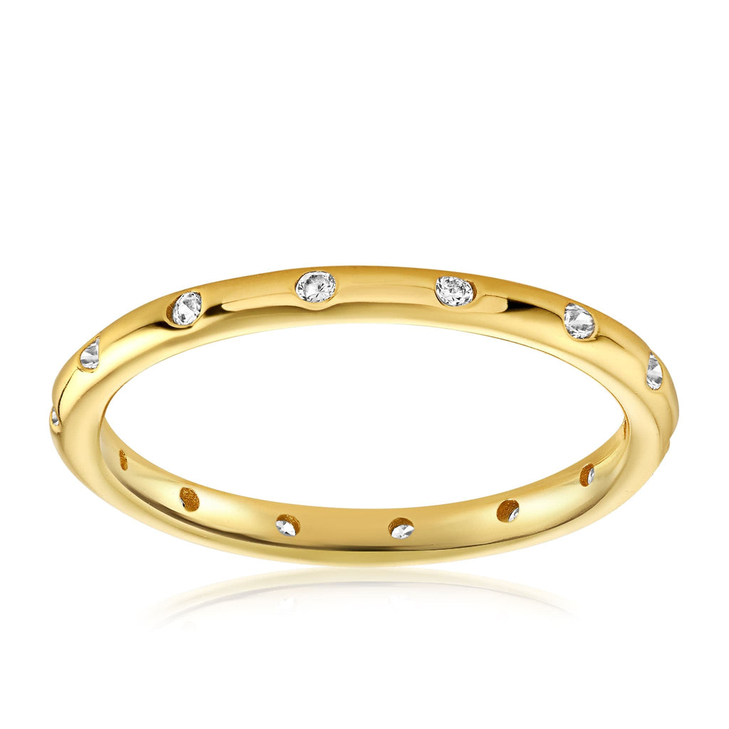 Droplet Ring - Front View Facing Up - 18K Yellow Gold Vermeil