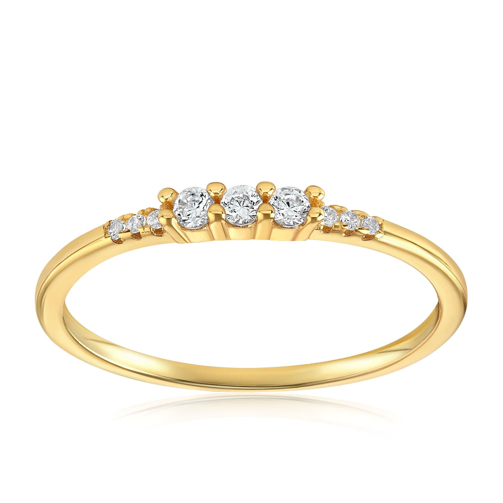 Emie Ring - Front View Facing Up - 18K Yellow Gold Vermeil