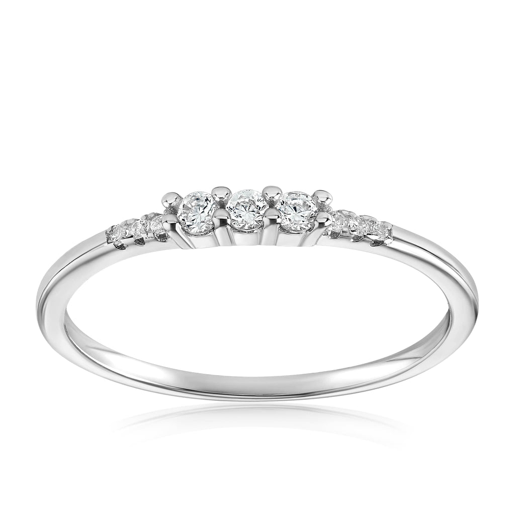 Emie Ring - Front View Facing Up - 925 Sterling Silver