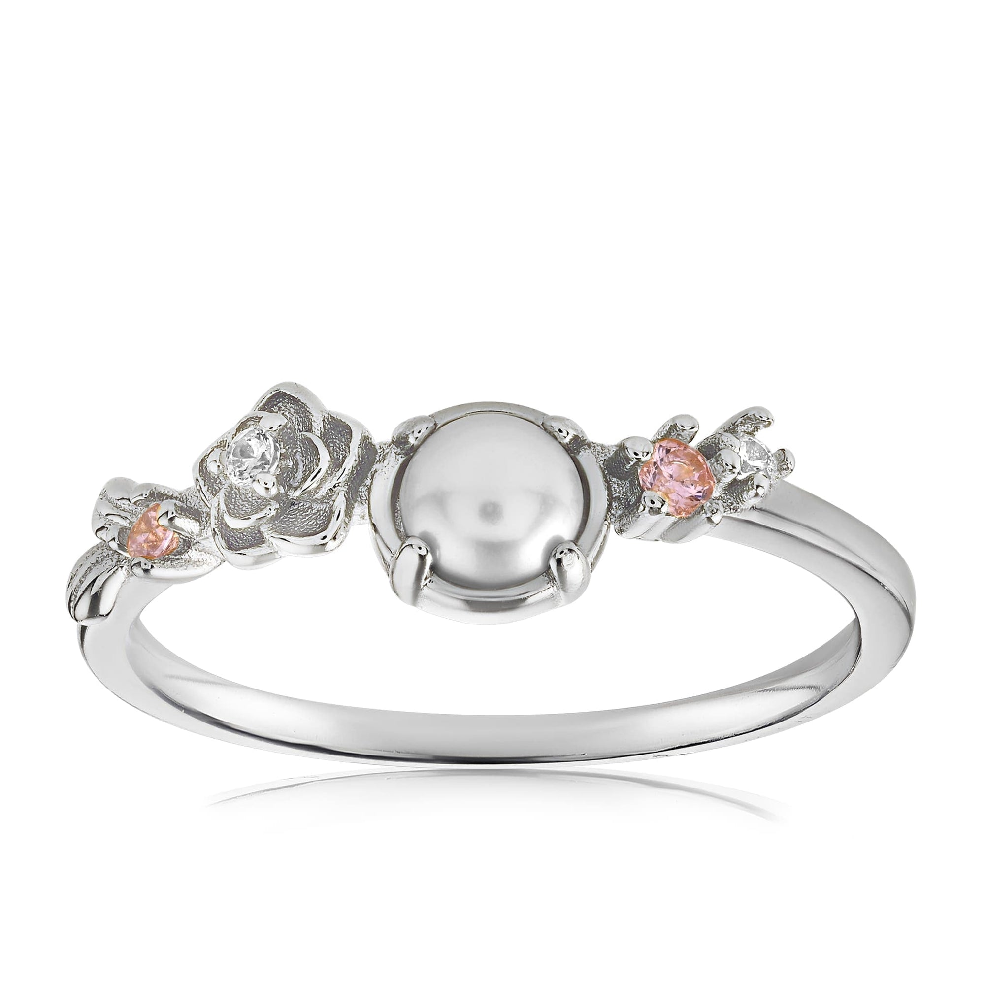 Grace Pearl Ring - Front View Facing Up - 925 Sterling Silver