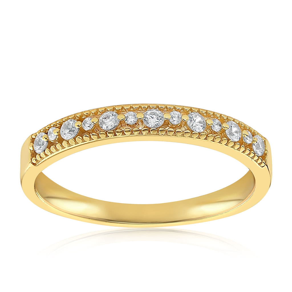 Joyce Layered Stack Ring - Front View Facing Up - 18K Yellow Gold Vermeil