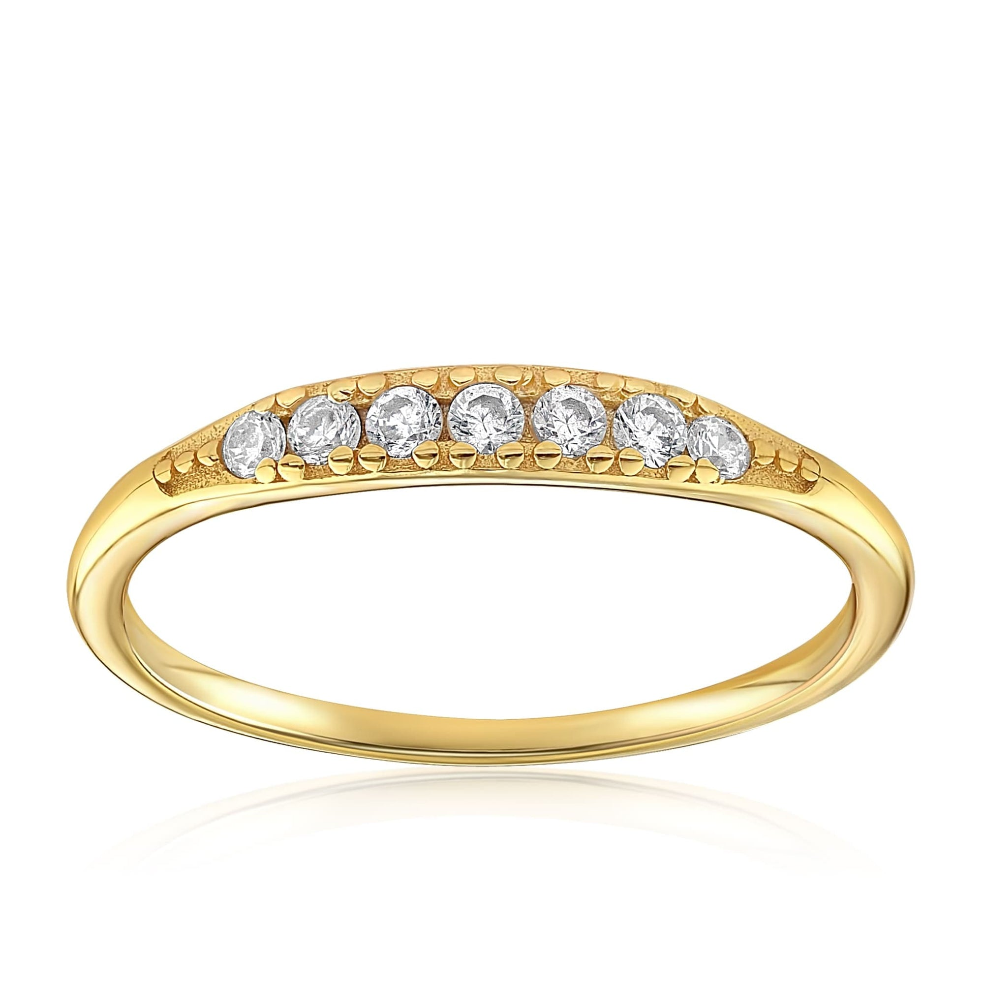 Kathleen Stack Ring - Front View Facing Up - 18K Yellow Gold Vermeil