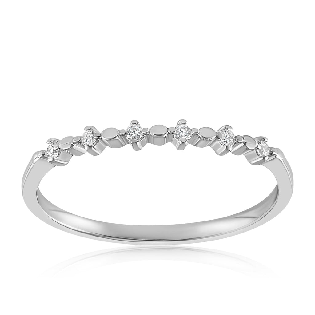 Nicolette Stackable Ring - Front View Facing Up - 925 Sterling Silver