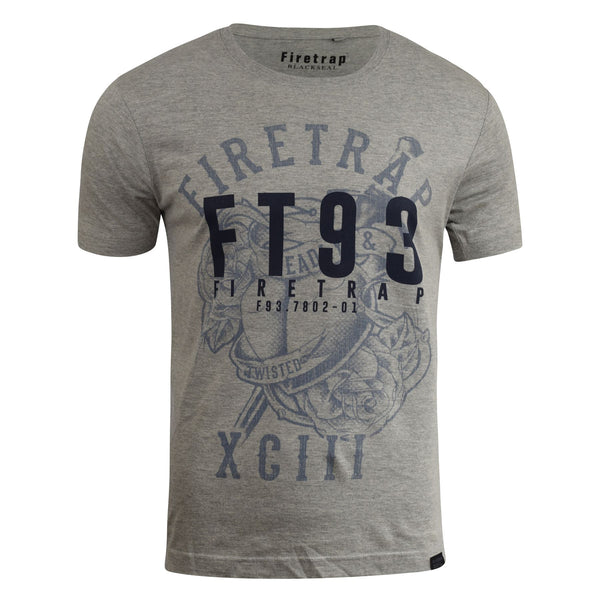 Mens Firetrap T-Shirt Various Graphic Crew Neck Tee Top