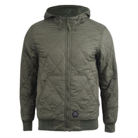 Mens Jacket  Crosshatch Diamond Quilts Hooded Coat - Kandor Clothing Company Ltd UK