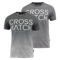 Mens Crosshatch T-Shirt Contrast Short Sleeve Tee Top Slenford - Kandor Clothing Company Ltd UK