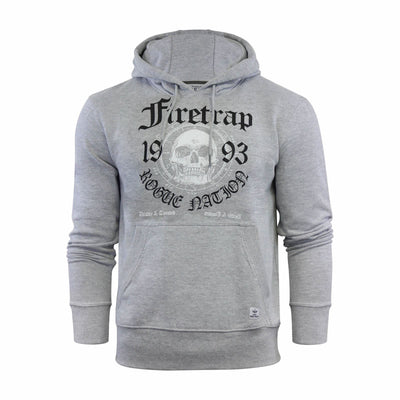 Mens Hoodie Firetrap Keyson Sweatshirt Hooded Top Pullover - Kandor Clothing Company Ltd UK