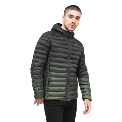Mens Bubble Jacket Crosshatch Fadedown - Kandor Clothing Company Ltd UK